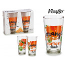 wholesale Drinking Glasses: set of 2 orange soda 45cl glasses