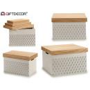 conjunto de 3 cajas madera tapa estrellas