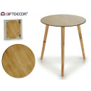 wooden glass table 40cm wooden legs