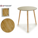 wooden glass table 50cm wooden legs