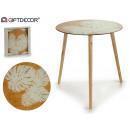glass table cost adan 50cm wooden legs