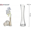 wide glass conical glass vase