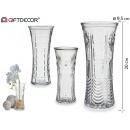 embossed glass vase assorted