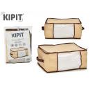 mayorista Salud y Cosmetica: caja guarda todo 45x30x20cm colores natural