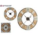 wholesale Clocks & Alarm Clocks: Movement type rustic wood decor silver