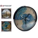 wholesale Clocks & Alarm Clocks: Movement type marine waves black border, 3 times s