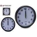 Uhrwerk weißer Hintergrund schwarzer Rand