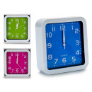 square alarm clock, 3 times assorted