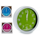 Round alarm clock, 3 times assorted