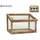 greenhouse natural rectangular wood