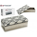 wholesale Household & Kitchen: ceramic jewelry box silver ethnic white bleached