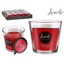 candle glass red fruits 50h