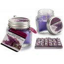 wholesale Candles & Candleholder: candle with lavender top 8h