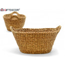 small oval handle basket