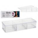 Organizer Box 3 Löcher transparenter Deckel