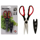 kitchen scissors with magnetic protector