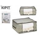 doos houdt kleding grijs 60x45x30cm