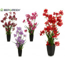 artificial plant multi flowers, 4 times assorted
