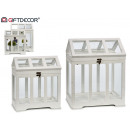 wholesale Garden Equipment: set of 2 white greenhouses