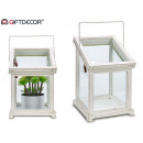 Narrow lateral white greenhouse