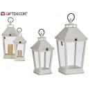 set of 2 white lanterns shape