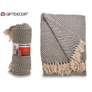 wholesale Cushions & Blankets: cover 180x220 zigzag natur-gray