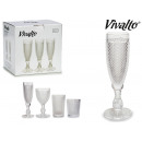 wholesale Food & Beverage: transparent cava glass 18cl diamond