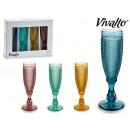set di 4 bicchieri da champagne 18cl 4 colori