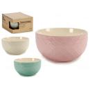 groothandel Huishouden & Keuken: honingraat keramische kom 3 lichte kleuren