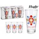 set of 3 glasses soda heart 31cl