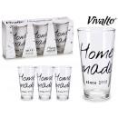set of 3 home made 31cl soda glasses