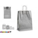 Medium silver kraft paper bag