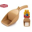 wholesale Garden Equipment:beige double pet shovel