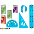 set of 3 flexible geometrical rules 4 color