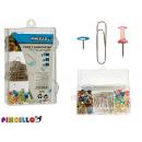 mayorista Regalos y papeleria: clips y chinchetas surtidas colores