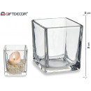 glass candle holder 8x8