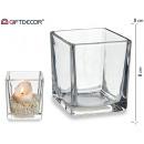 świecznik szklany 8x8