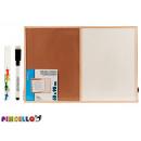 Korkbrett und Whiteboard 60x90