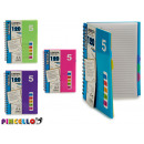 block notes b5 numbers colors 4 times assorted 120