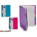 block notes a5 stripe colors 4 times assorted 120