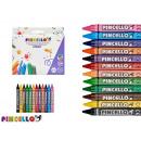 12 pieces crayon jumbo wax