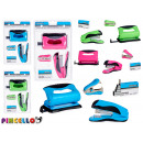 wholesale Office Utensil: set of stapler + hole puncher colors 3 times