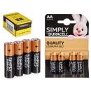 Duracell - alkaline battery lr6 aa blister 4