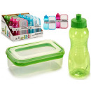 lunch box and canteen set, colors 3 vec