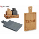 square table bambu and blackboard decoration tops