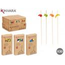 wholesale Haberdashery & Sewing: set of 30 skewers food models 3 times their