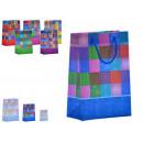 mayorista Boutiques y almacenamiento: bolsa plástico mediana cuadros 6 mod surtido