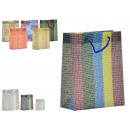 wholesale Business Equipment: plastic bag striped 6 mod assorted