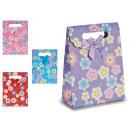 mayorista Regalos y papeleria: bolsa papel solapa pequeño flores, colores 4 veces
