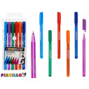 set of 6 assorted vivid colored pens